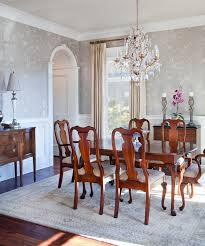 Wallpaper Designs For Dining Room Traditional Dining Room Design With Wooden Furniture With