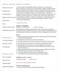 Sample Medical Assistant Resume by Medical Assistant Certificate Template