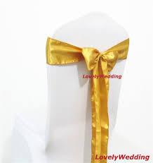Gold Chair Sashes Aliexpress Com Buy Wholesale 100pcs 9cmx220cm Gold Satin Wedding