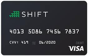 debit card for shift card
