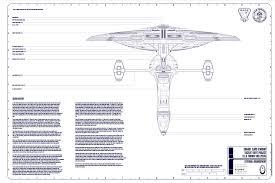 chariot class federation starship u2013 var 1 u2013 schematics concept