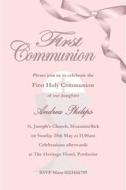 communion invitations for girl personalised communion invitations girl new design 1