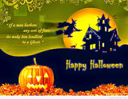 happy halloween quote with witch