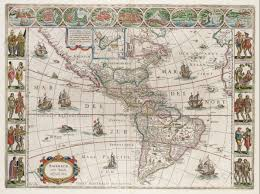 Map Of North And South America by File Americae Nova Tabula Map Of North And South America Willem