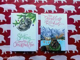 christmas cards themed animal themed christmas cards