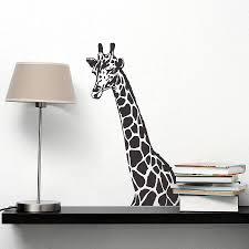 giraffe wall sticker by oakdene designs notonthehighstreet com giraffe wall sticker
