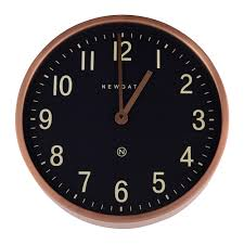 Buy Clock by Buy Newgate Clocks Master Edwards Wall Clock Radial Copper Amara