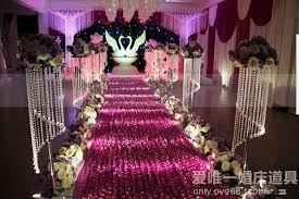 purple aisle runner luxury wedding centerpieces favors 3d petal carpet aisle