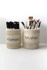 Shabby Chic Office Accessories shabby chic office pencil holders organizers by creativecarmelina