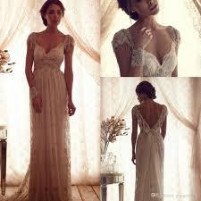 boho wedding dress designers cbell vintage lace pearls wedding dresses 2017