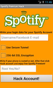 spotify apk hack free spotify hack premium account for free apk for
