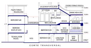 floor plans villa penthouse mauresque playa del carmen house