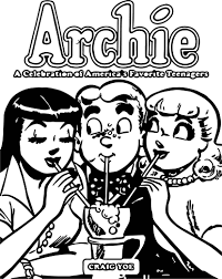 archie celebration coloring page wecoloringpage