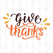 give thanks thanksgiving day lettering royalty free cliparts