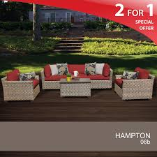 Hampton Patio Furniture Sets - 6 piece patio furniture set patio wicker furniture set