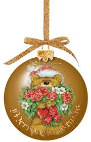 Animated Christmas Ornaments Gif by Merry Christmas Teddy Bear Ornament Gif Gifs Christmas