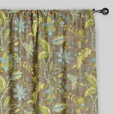 Brown Floral Curtains Floral Tamara Curtains Set Of 2 World Market