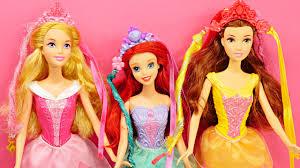 3 disney princess snap u0027n style barbie dolls ariel belle sleeping