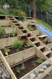 raised beds on a hill would be great for the far end of the pool