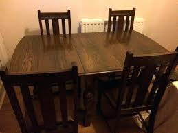 Dining Table Chairs And Bench - dining table vintage oak home slide dining table chairs and