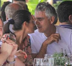 andrea bocelli enjoys family lunch with wife veronica and daughter