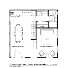 european style house plan 1 beds 1 00 baths 484 sq ft plan 917 34