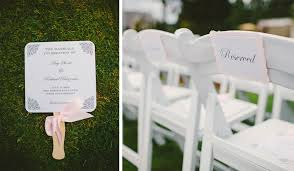 diy wedding program fan and richie s oregon golf club wedding