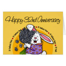 32nd wedding anniversary happy 32nd anniversary gifts t shirts posters other gift