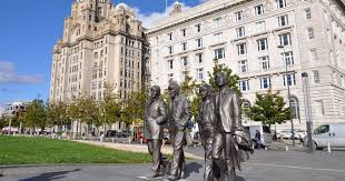 beatles statue unveiled on liverpool waterfront news