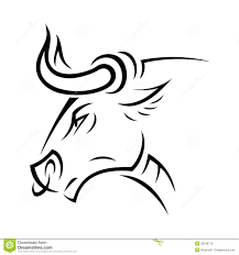 angry bull stock vector image of isolated aggression 28240716