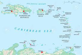 Haiti Map Political Map Of Lesser Antilles Haiti And Dominican Republic