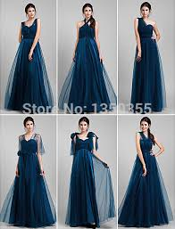 dress for bridesmaid stylish royal blue tulle bridesmaid dress convertible dress for