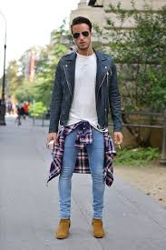 light tan suede chelsea boots how to wear a biker jacket with tan suede chelsea boots men s fashion