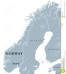 Northern Europe Map Norway Political Map Stock Vector Image 87296463