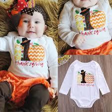 thanksgiving cotton autumn infant baby boy clothes