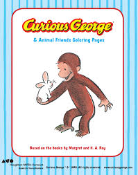 curious george u0026 animal friends printable coloring pages