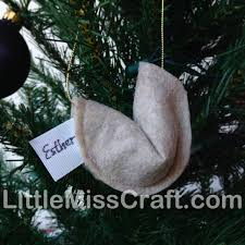 fortune cookie ornament crafts felt fortune cookie ornament