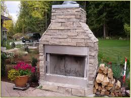 prefab outdoor fireplace design