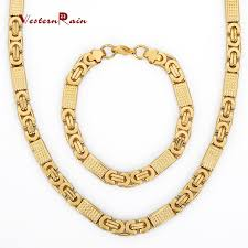 aliexpress gold necklace images Wholesale westernrain new arrival top quality dubai gold jewelry jpg