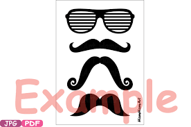 photo booth prop props black mustache retro party photo booth prop gentleman