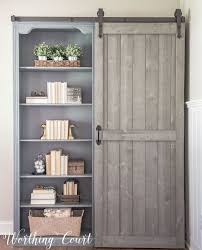 bookcase makeover traditional cherry to farmhouse fab regarding
