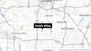 La Gang Map Police Investigating Double Killing In South L A La Times