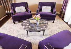Purple Accent Chair Purple Accent Chair With Ottoman Watercolor Floral Accent