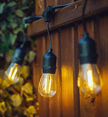 Patio String Lights Canada Hyperikon Led Outdoor Commercial String Lights 48ft With 15