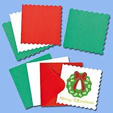 mini festive colours christmas greeting card blanks for children