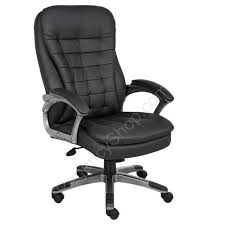 Quality Chairs High Back Executive Chair With Pillow Top Pewter High Quality