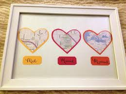 cotton anniversary gifts for him anniversary gift map hearts display tutorial and other