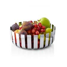blomus gusto fruit bowl polished stainless steel black by design