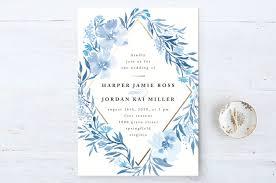 wedding invitations blue poetic blue wedding invitations qing ji minted blue wedding