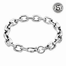 link bracelet silver images Sterling silver square link bracelet for women 19cm jpg